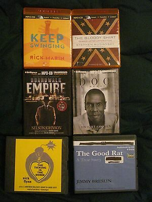 Audiobooks on CD lot Dwight Gooden, Boardwalk Empire & More
