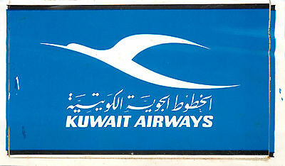 KUWAIT AIRWAYS - Old Airline Luggage Label / Decal, c. 1970
