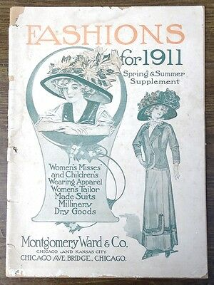 1911 Montgomery Ward Fashion Supplement Catalog Spring and Summer