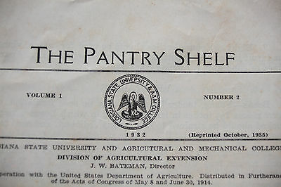 The Pantry Shelf Standard for Canned Fruits & Vegetables Pickles Relishes 1935