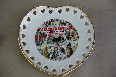Heart Shaped Hanging Plate Carlsbad Caverns National Park New Mexico Souvenir