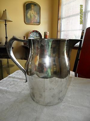 Vintage Wallace Silver Plated Water Pitcher #2467