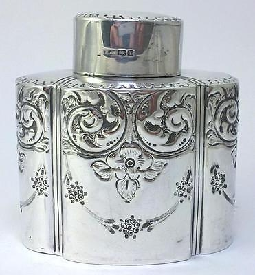 Antique hallmarked Sterling Silver Tea Caddy –  1909  by Atkin Brothes (79g)