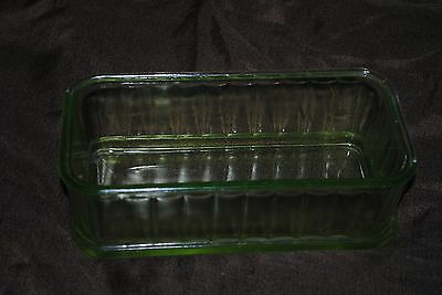 Green Glass Refrigerator Container (No lid)