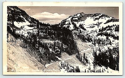 Postcard WA Chinook Pass Four Levels of Highway RPPC Real Photo  C4