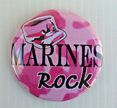 United States Marine Corp * Buttons * Mirrors * Magnets *  Usmc Pink Camo