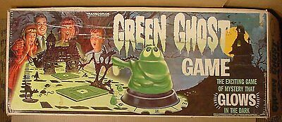 Vintage 1965 Transogram Green Ghost Game Almost Complete