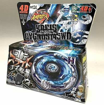 Kreis Cygnus Metal Fury 4D Beyblade + Launcher BB-124  - USA Seller