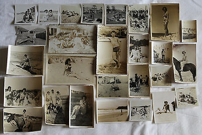 antique vintage lot of old photos photographs beach /seaside x 27 1920's-1960's
