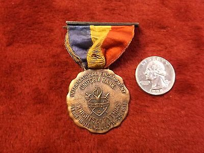 "#1 of 11, RARE VTG ANTIQUE 1914 MEDAL & RIBBON ""UNIFORM RANK KNIGHTS OF PYTHIAS"""
