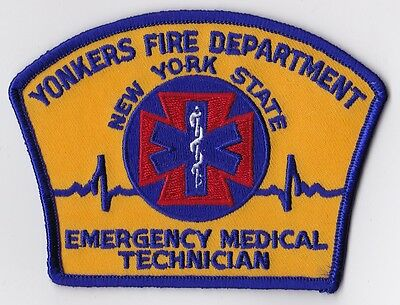 Yonkers Fire Dept. Emergency Medical Technician Firefighter Patch NEW!!