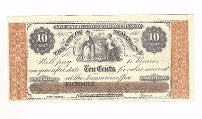 The Mayor And Common Council, Newark New Jersey 10 ¢ (FACSIMILE)