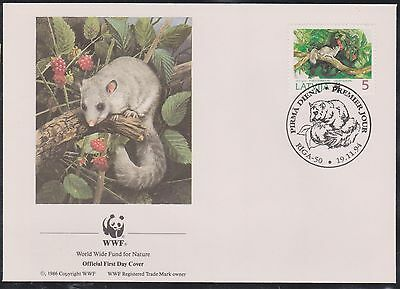 (WWG-73) 1994 WWF FDC Latvia door mouse (A)
