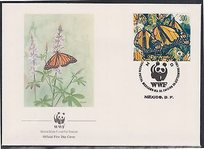 (WWG-89) 1988 WWF FDC Mexico 300p Monarch Butterflie (A)
