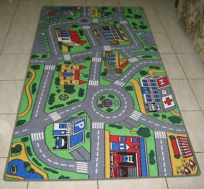 NEW CITY ROAD CAR TRACK KIDS PLAY MAT/Rug 100X200CM