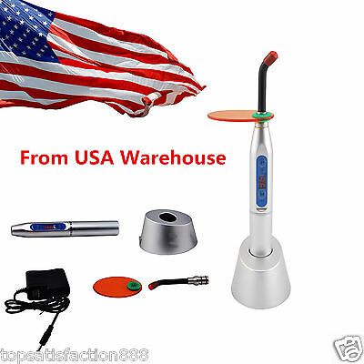 Dental 10W Wireless Cordless LED Curing Light Lamp Machine 2000mw USA Shipping
