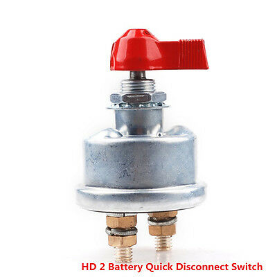 HD2 Battery Quick Disconnect Switch Charger Race Cut/Shut Off Safety Kill Switch