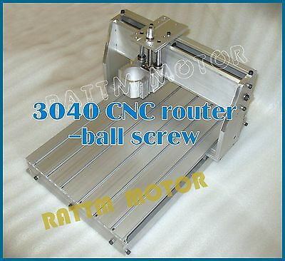New 3040 CNC Router Milling Engraving Machine Ball Screw Frame Kit+52mm Clamp