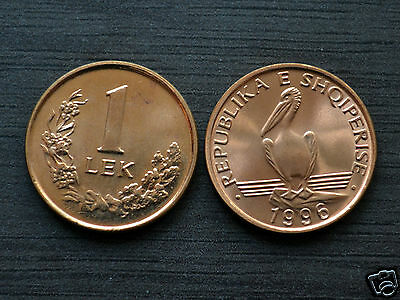 Albania  1 Lek 1996  KM 75 UNC COIN CURRENCY   Birds | Pelicans