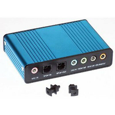External Sound Card USB 6 Channel 5.1 Audio S/Pdif PC Netbook Laptop UKS/PDIF