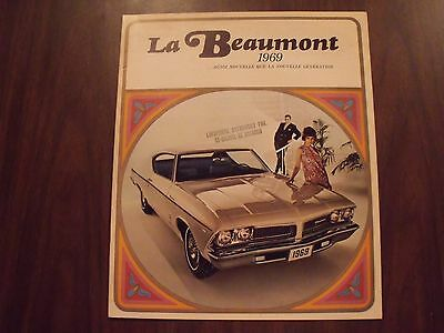 1969 Beaumont brochure French General Motors Canada Canadian Pontiac GM 69