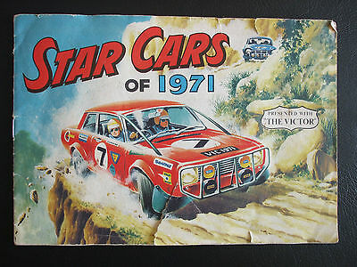 The Victor Comic Star Cars of 1971 Album Supplement
