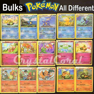 50/100pcs Pokemon TCG Sealed Trading Card Bulks Lots of Basic & All Different