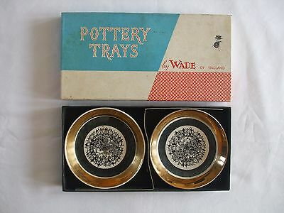 2 Pottery Trays by Wade