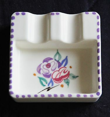 Poole Pottery Ashtray, Traditional Style, Square Shape, Excellent Condition