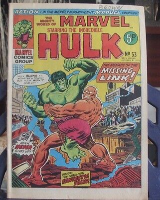 Marvel Comics  Present The Mighty World of Marvel #53 Oct 6 1973