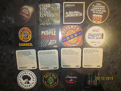 16 Different NEW ZEALAND BREWERIES, collectable COASTERS