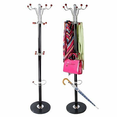 Clothes Hat Coat Umbrella Stand Rack Garment Hanger Metal Solid Base 15 Hook