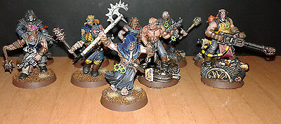 10 chaos space marines cultists pro painted warhammer 40.000