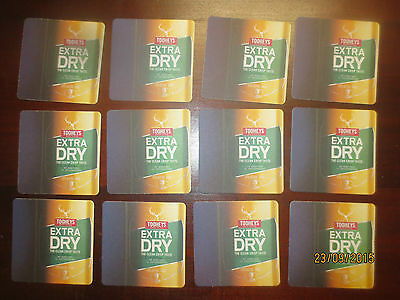 12 TOOHEY EXTRA DRY  Beer collectable COASTERS, NEW ISSUE