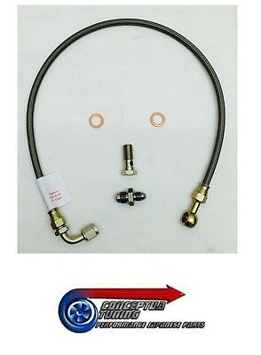 Braided Turbo Oil Line & Fittings Garrett GT3076 for R34 GTT Skyline RB25DET Neo