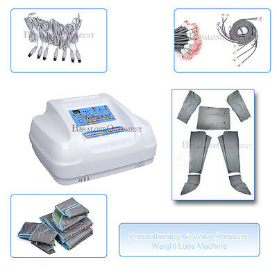 4in1Air Wave Pressure Far Heat Pressotherapy Lymphatic Detox Weight Loss Machine