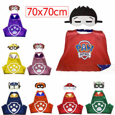 Paw Patrol Kids Cape & Mask Favor Costume For Birthday Party Halloween Decor