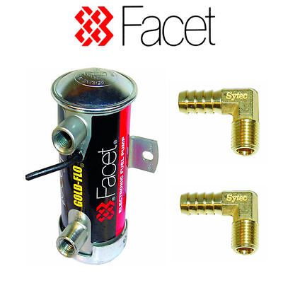 Facet Red Top Works Fuel Pump 480532 6-8psi with 8mm unions for carb