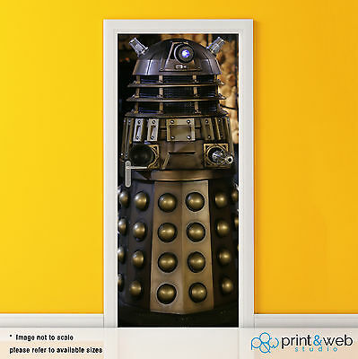 Dr Who Dalek Box Vinyl Door Wrap Decal Sticker Self Adhesive Police Box Bedroom