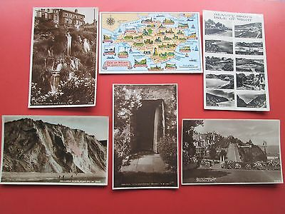 Isle of Wight: 6 Assorted Postcards (5 R/P plus Map Card)