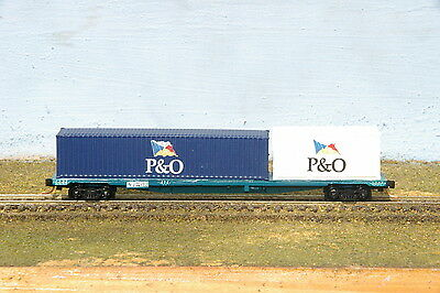 Australian N Scale - NSWGR - Loaded 63ft Container Wagon