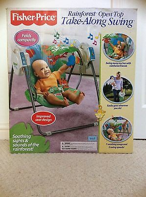 Fisher Price Rainforest Baby Open Top Fold Away Swing