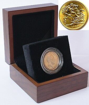 1929 King George V Gold Sovereign + Capsulated within Luxury Case