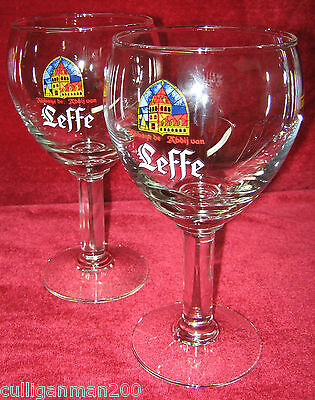 1 - Lot of 2 Leffe Brewery Beer glass 33cl (.33ltr) (2015-001)