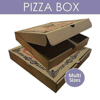 100 & 70 printed Pizza Box Packing Packed Postal Boxes Take Away size options