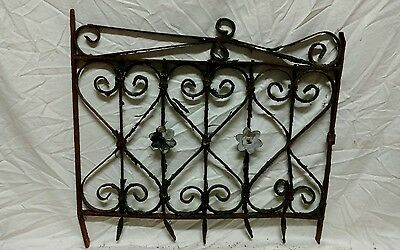 Antique wrought iron window guard wall art garden gate
