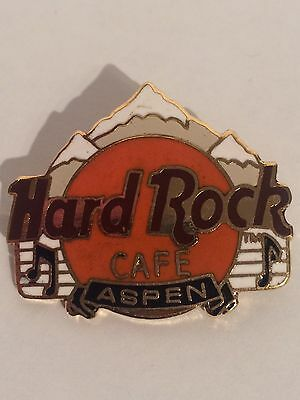 Hard Rock Cafe Aspen - HRC Logo with Mountains Pin
