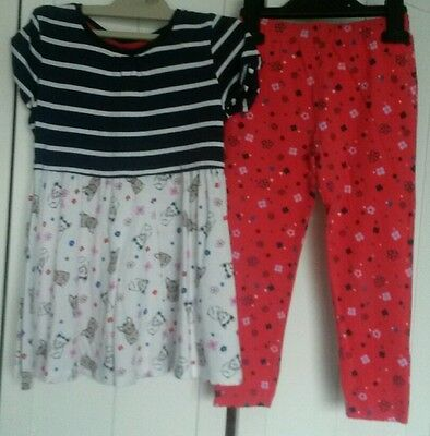Girls tonic Top and Leggings Set Age 3-4 years