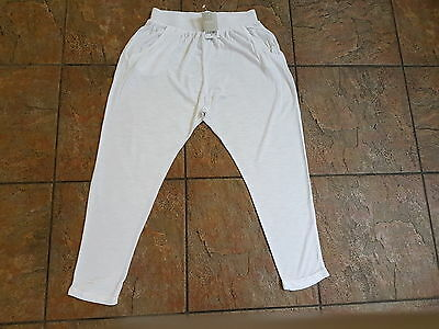 NEW NEXT Girls White Jogging Bottoms - Age 12 Years