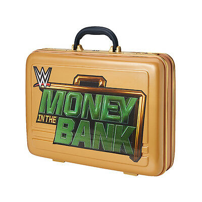 WWE Money in the Bank Commemorative GOLD classic Replica Briefcase - Brand New